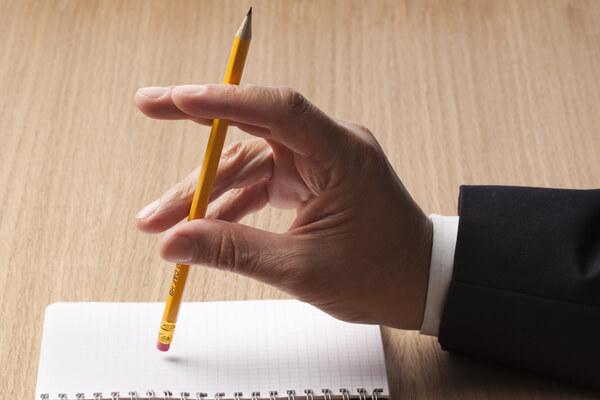 Bleistift leeres Blatt